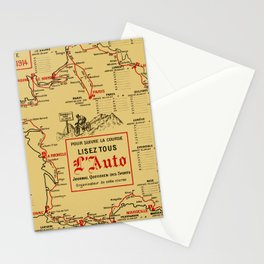 Tour De France 1914 Stationery Cards