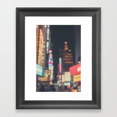Times Square Abstract Framed Art Print