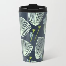Tulip Garden M+M Navy Black by Friztin Travel Mug