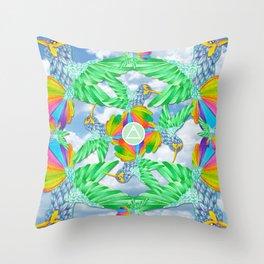 Air/Hummingbird Throw Pillow