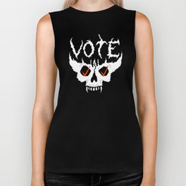 Death Metal Vote Demon Biker Tank