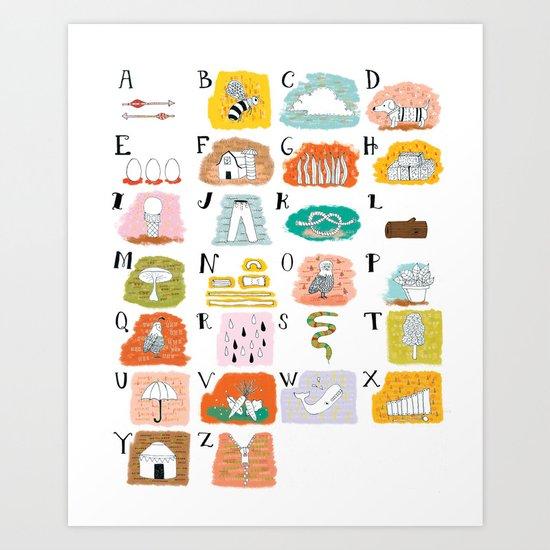 Illustrated ABC's Art Print