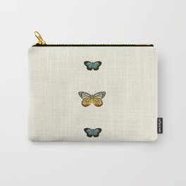 Butterfly Collage Vertical Carry-All Pouch