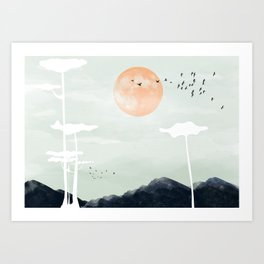 all the way back to the nest Art Print