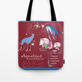 Aquarius January Tote Bag