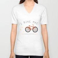 milwaukee V-neck T-shirts featuring Milwaukee, Wisconsin by I Bike by By Jodene Warden