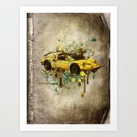 ferrari Art Prints featuring Ferrari by Svetlana Sewell