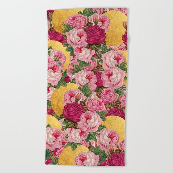 Rosy Gold Beach Towel