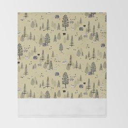 Forrest Pattern Throw Blanket
