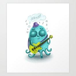 Musical octopus Art Print