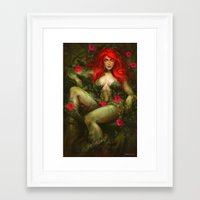 poison ivy Framed Art Prints featuring Poison Ivy by MATT DEMINO