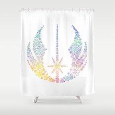 Multicolored Floral Jedi Symbol Shower Curtain