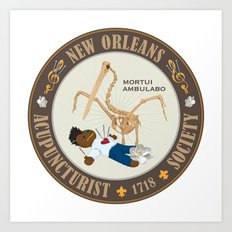Mortui Ambulabo [New Orleans Acupuncturist Society] Art Print