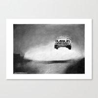 audi Canvas Prints featuring Audi Quattro Flying by Gábor Vida
