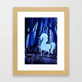 The Loveliest Of Them All Was The Unicorn Framed Art Print