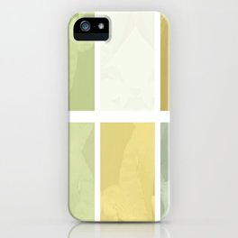 Pale Yellow Poinsettia 1 Abstract Rectangles 1 iPhone Case