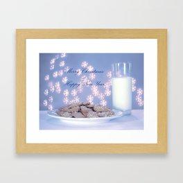 Christmas bokeh Framed Art Print