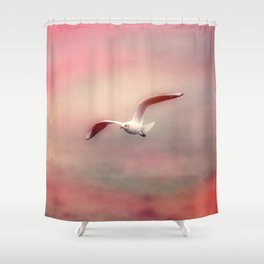 Seagull flying Shower Curtain