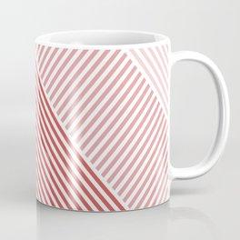 Shades of Red Abstract geometric pattern Coffee Mug