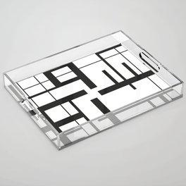 Lines #3 Acrylic Tray