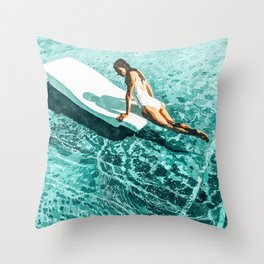 Pool Day #society6 #painting #summer Throw Pillow