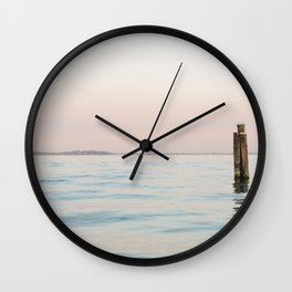 Colorful Pastel Water | Lake Garda | Italy | Travel Photography | Art Print | Minimalistic | Fine Art Print Wall Clock