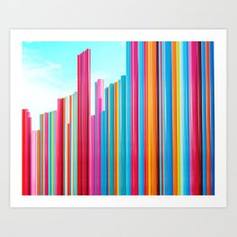 Colorful Rainbow Pipes Art Print