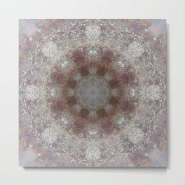 Mandala Amethyst Metal Print