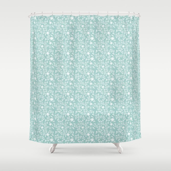 A Saunter on the Green Shower Curtain by darlinandco | Society6