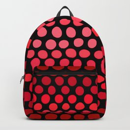 Juicy Red Apple Ombre Dots Backpack