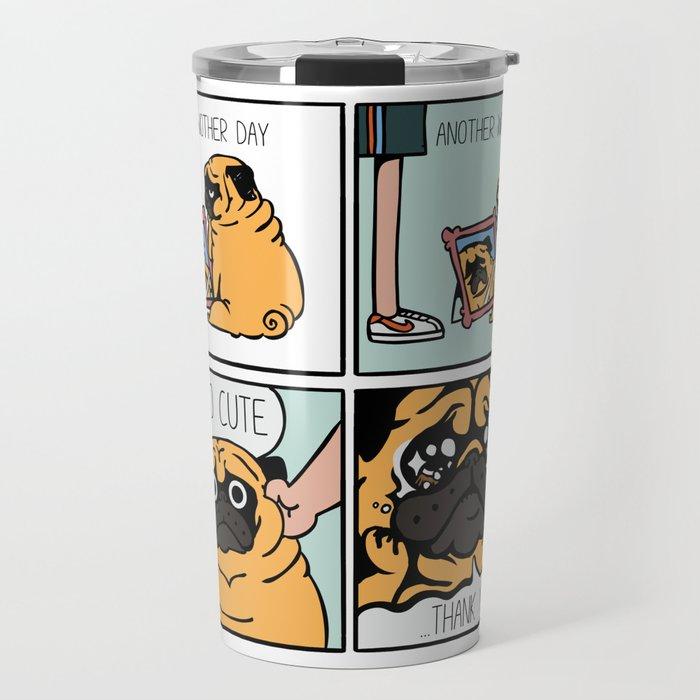 Another Wrinkle Pug Travel Mug