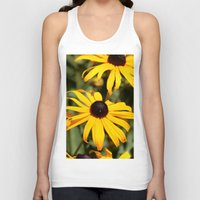 dentist Tank Tops featuring Happy Flowers by IowaShots