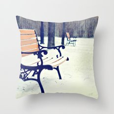 One snowy morning... Throw Pillow