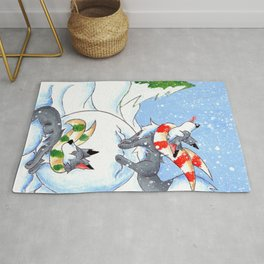 A Break for Snowflakes Rug