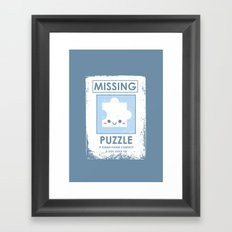 The Missing Puzzle Framed Art Print