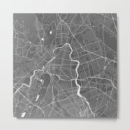 Paterson USA Modern Map Art Print Metal Print