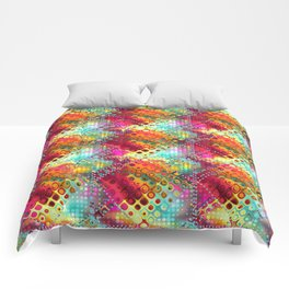 carré losange de couleur Comforters