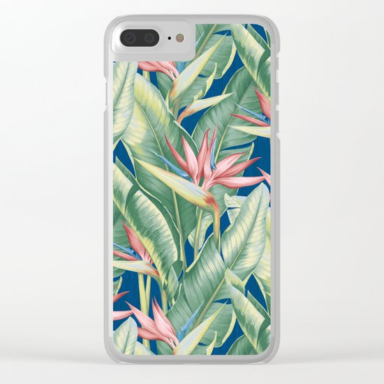 Flowers Birds of Paradise Clear iPhone Case