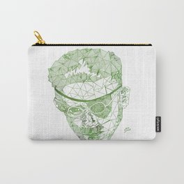 James Joyce - Hand-drawn Geometric Art Print - Green Gradient Carry-All Pouch