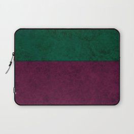 Green suede Laptop Sleeve