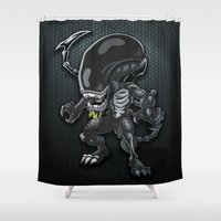 alien Shower Curtains featuring Alien by 7pk2 online