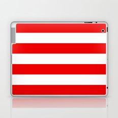 Stripe Red White Laptop & iPad Skin