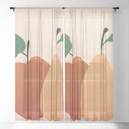 An Apple and a Pear Sheer Curtain