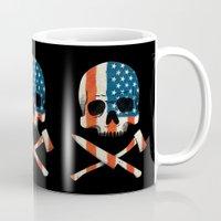 american Mugs featuring American P$yscho by Wharton