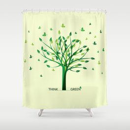 Think green! Shower Curtain