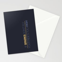 If sparks don't fly, your ride's too high v7 HQvector Stationery Cards