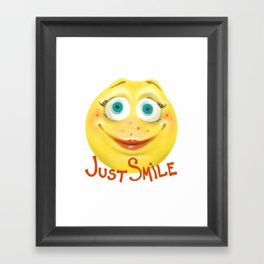 Just Smile :) Framed Art Print