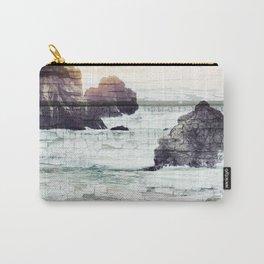 ocean beach driftwood Carry-All Pouch