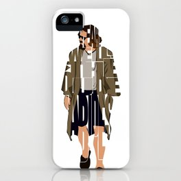 The Big Lebowski Inspired The Dude Typography Artwork iPhone Case