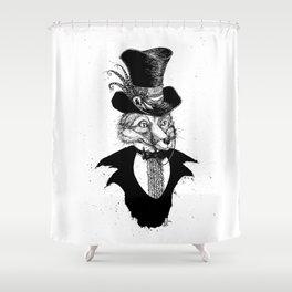 Dandy Fox (B&W) Shower Curtain
